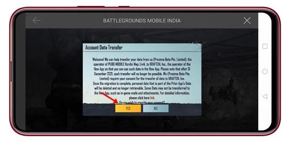 pubg mobile data transfer to battle grounds mobile india