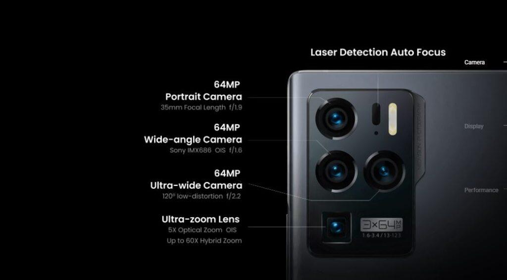 ZTE Axon 30 Ultra camera