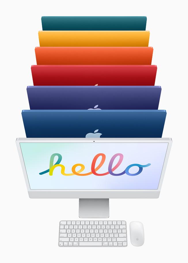 Apple iMac 24 inch 2021 colors