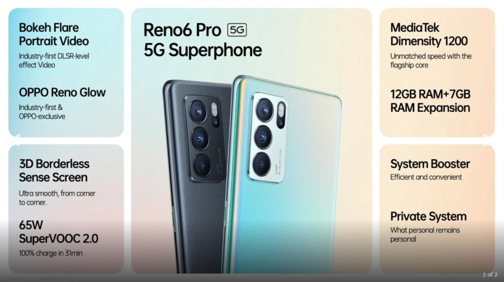 oppo reno 6 pro 5g specifications