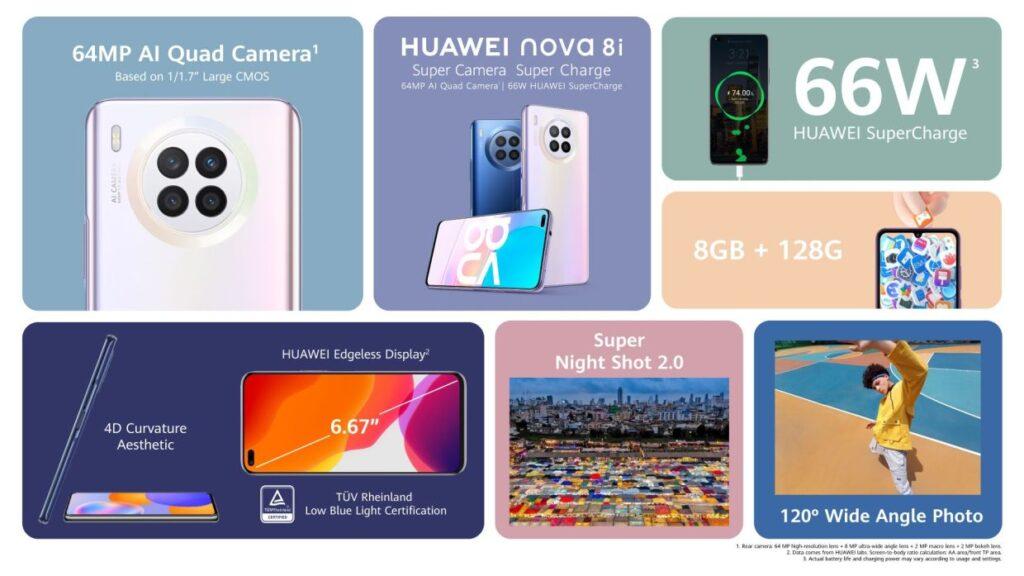 Huawei nova 8i specifications