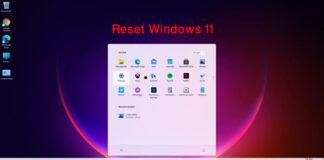 factory reset Windows 11