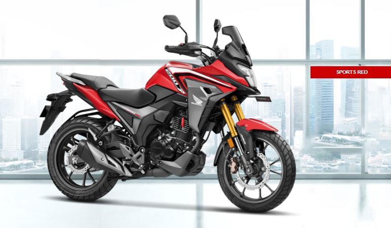 sports red color of adv bike